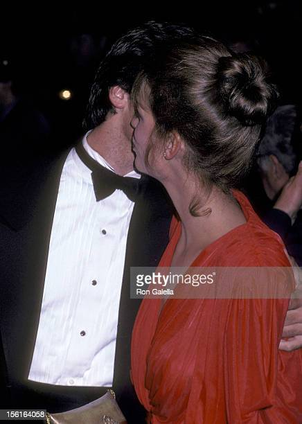 Actor Hart Bochner and actress Jamie Lee Curtis attend the 'Rich and Famous' New York City Premiere on October 6 1981 at the Ziegfeld Theater in New...