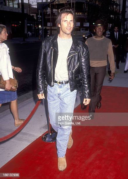 Actor Hart Bochner attends the 'Thelma Louise' Santa Monica Premiere on May 10 1991 at AMC Santa Monica 7 in Santa Monica California