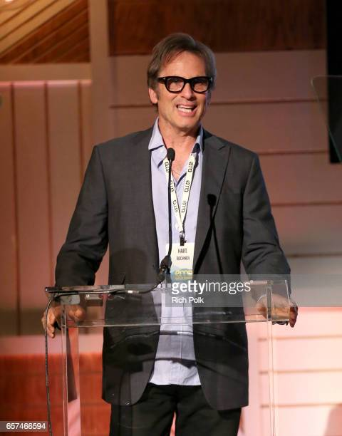 Actor Hart Bochner speaks onstage during the EMA IMPACT Summit hosted by the Environmental Media Association presented by Toyota Mirai and Calvert...