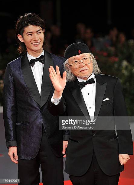 Actor Haruma Miura and mangaka/author Leiji Matsumoto attend 'Harlock Space Pirate' Premiere during the 70th Venice International Film Festival at...