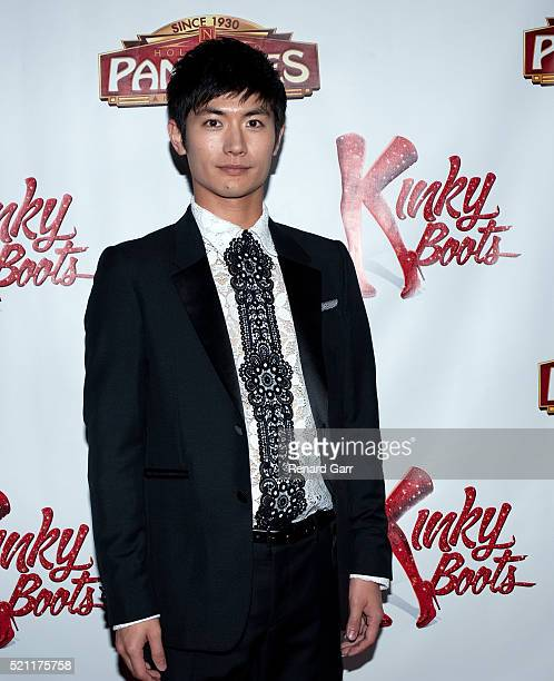 Actor Haruma Miura arrives for the Opening Night Of Kinky Boots held at the Pantages Theatre on April 13 2016 in Hollywood California