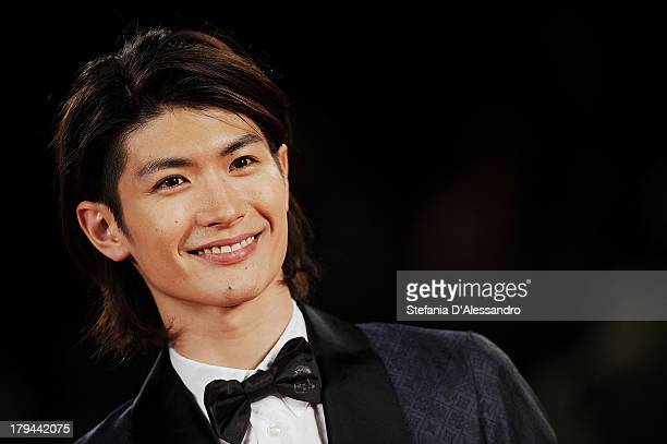 Actor Haruma Miura attends 'Harlock Space Pirate' Premiere during the 70th Venice International Film Festival at Sala Grande on September 3 2013 in...