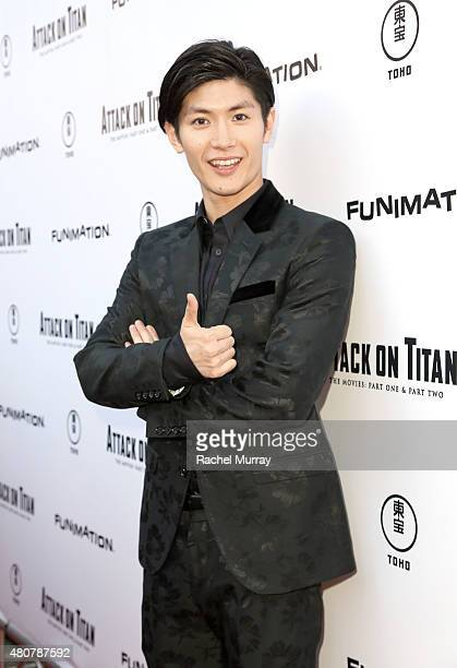 Actor Haruma Miura attends the ATTACK ON TITAN World Premiere on July 14 2015 in Hollywood California
