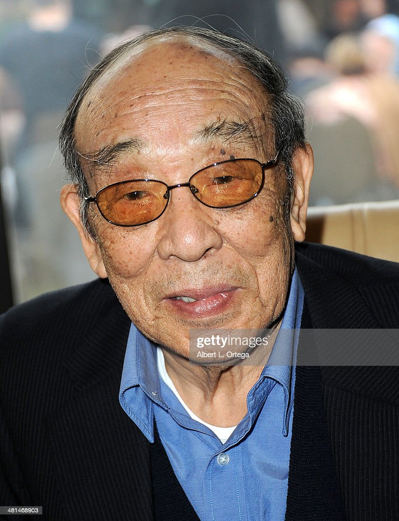 Actor Haruo Nakajima attends the 2014 Monsterpalooza: The Art Of Monsters Convention held at Marriott Airport Hotel on March 29, 2014 in Burbank, California.