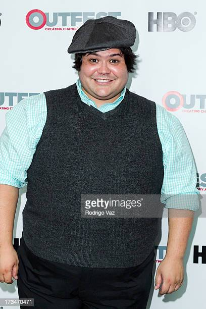 Actor Harvey Guillen arrives at 2013 Outfest Film Festival Big Gay Love screening at Directors Guild Of America on July 14 2013 in Los Angeles...