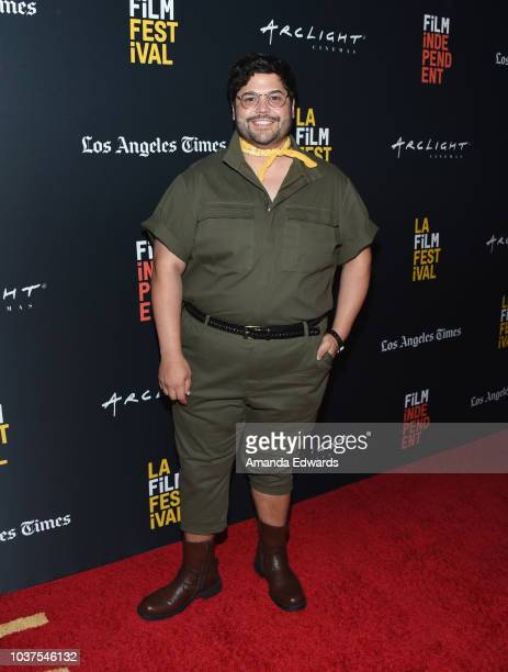 Actor Harvey Guillen arrives at the 2018 LA Film Festival Gala Screening of The Body at the Writers Guild Theater on September 21 2018 in Beverly...