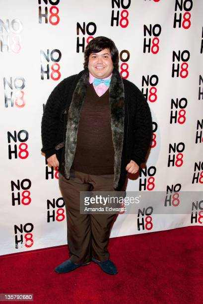 Actor Harvey Guillen arrives at the NOH8 Campaign's 3 Year Anniversary Celebration at House of Blues Sunset Strip on December 13 2011 in West...