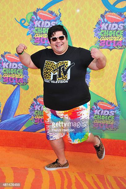 Actor Harvey Guillen attends Nickelodeon's 27th Annual Kids' Choice Awards held at USC Galen Center on March 29 2014 in Los Angeles California