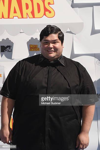 Actor Harvey Guillen attends The 2015 MTV Movie Awards at Nokia Theatre LA Live on April 12 2015 in Los Angeles California
