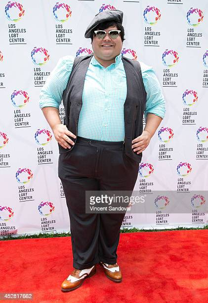 Actor Harvey Guillen attends the GLEH/Los Angeles LGBT Center's Garden Party on July 27 2014 in Los Angeles California