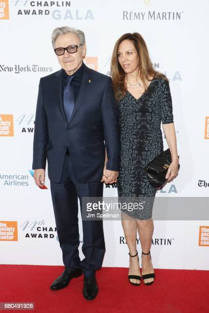 Actor Harvey Keitel and actress Daphna Kastner attend the 44th Chaplin Award Gala at David H Koch Theater at Lincoln Center on May 8 2017 in New York...