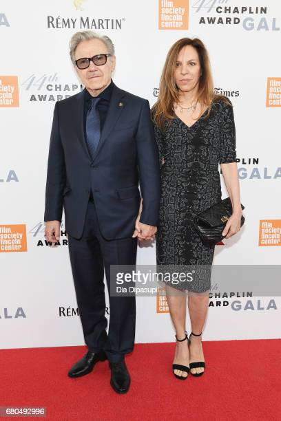 Actor Harvey Keitel and actress Daphna Kastner attend the 44th Chaplin Award Gala at David H. Koch Theater at Lincoln Center on May 8, 2017 in New...
