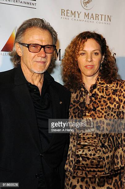 Actor Harvey Keitel and Daphna Kastner attends the premiere of The Ministers at Loews Lincoln Square on October 13 2009 in New York City