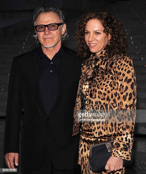 Actor Harvey Keitel and Daphna Keitel attend the 7th Annual Tribeca Film Festival Vanity Fair Party at the State Supreme Courthouse on April 22 2008...