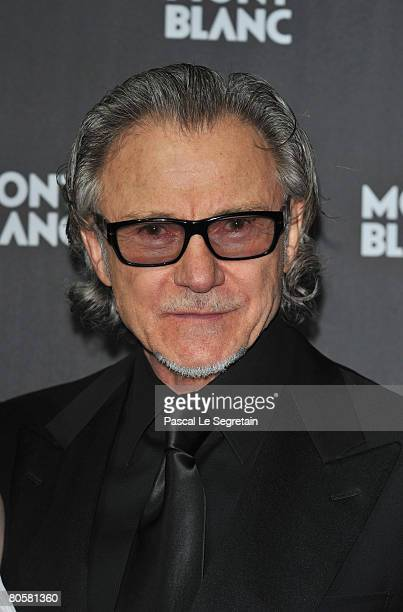 Actor Harvey Keitel attends the 'Writing Time', Robert Wilson's watch launch gala hosted by Montblanc during the Salon International de la Haute...
