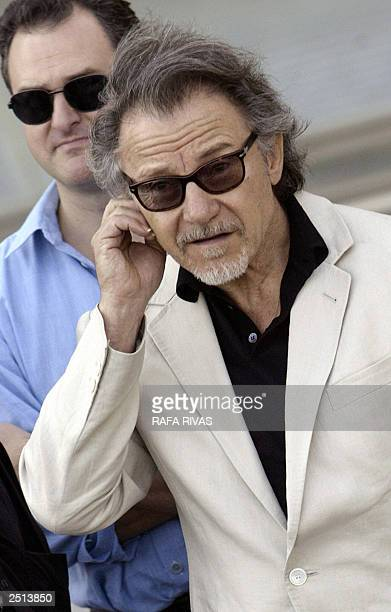 US actor Harvey Keitel poses for photographers 20 September 2003 in the Spanish northern Basque city of San Sebastian during the presentation of his...