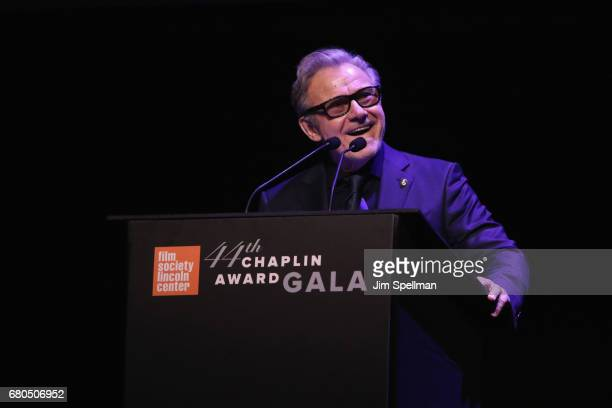 Actor Harvey Keitel speaks onstage during the 44th Chaplin Award Gala at David H Koch Theater at Lincoln Center on May 8 2017 in New York City