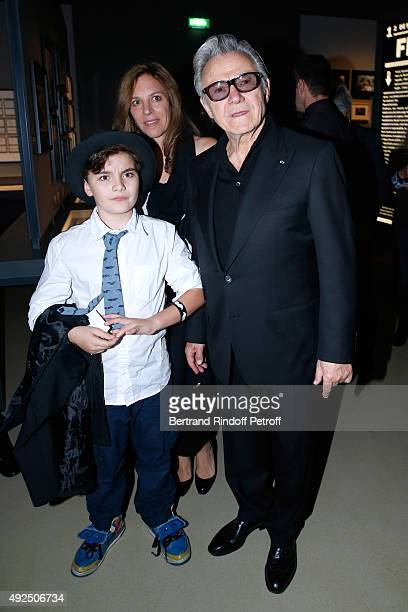 Actor Harvey Keitel with his wife Daphna Kastner and their son Roman Keitel attend the Tribute to Director Martin Scorsese at Cinematheque Francaise...