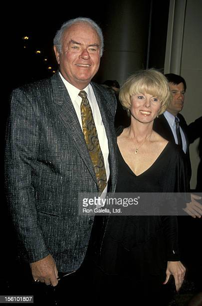 Actor Harvey Korman and wife Deborah Korman attend the 'Benefit for Los Angeles Free Clinic' on December 7 1990 at the Beverly Wilshire Hotel in...