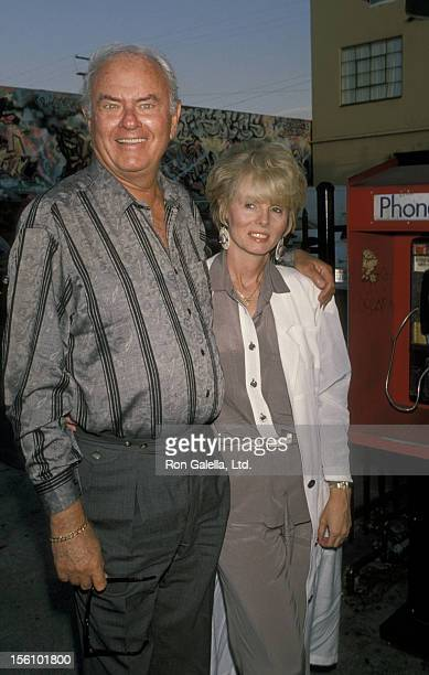 Actor Harvey Korman and wife Deborah Korman attending 82nd Birthday Party for Milton Berle on July 13 1990 at The Improvisation in West Hollywood...