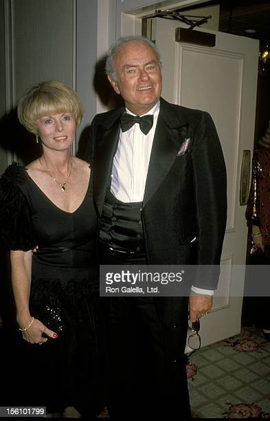 Actor Harvey Korman and wife Deborah Korman attending 'Life Benefit for Dennis Weaver' on October 12 1990 at the Century Plaza Hotel in Century City...