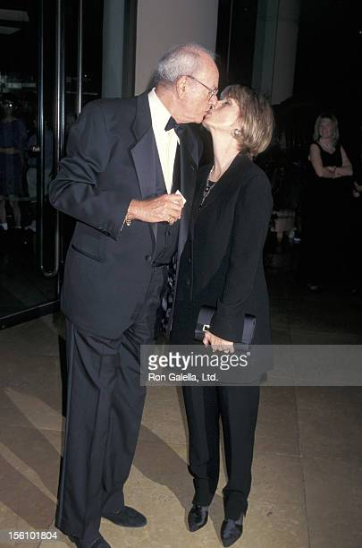 Actor Harvey Korman and wife Deborah Korman kiss during the 'American Comedy Honors' on March 2 1996 at the Beverly Hilton Hotel in Beverly Hills...