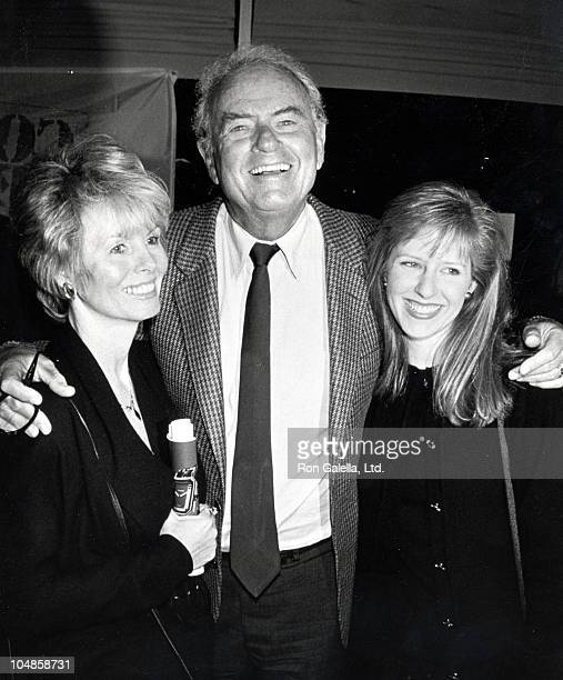 Actor Harvey Korman poses with his wife Deborah Korman and daughter attend the party for HBO's Comic Relief benefit on May 10 1990 at Rick Newman's...