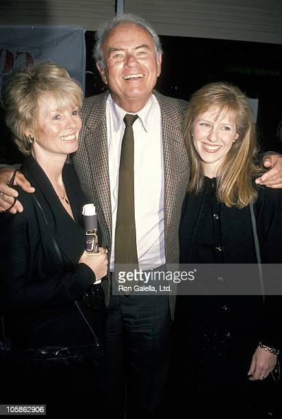 Actor Harvey Korman poses with his wife Deborah Korman and daughter during the party for HBO's Comic Relief televised comedy charity benefit concert...