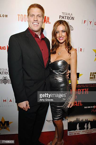 Actor Hawk Younkins and Frances Chase attend the Tooth and Nail Film Premiere Party at the Roosevelt Hotel on October 16 2007 in Hollywood California