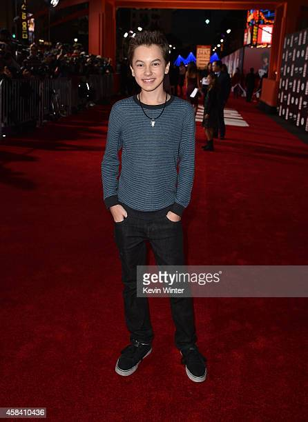 Actor Hayden Byerly attends the premiere of Disney's Big Hero 6 at the El Capitan Theatre on November 4 2014 in Hollywood California