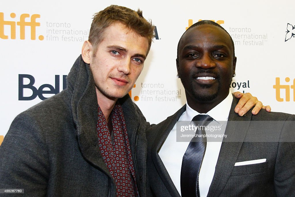 Actor Hayden Christensen and actor/recording artist Aliaune Thiam aka Akon arrive at the 'American Heist' Premiere during the 2014 Toronto International Film Festival held at the Princess of Wales Theatre on September 11, 2014 in Toronto, Canada.