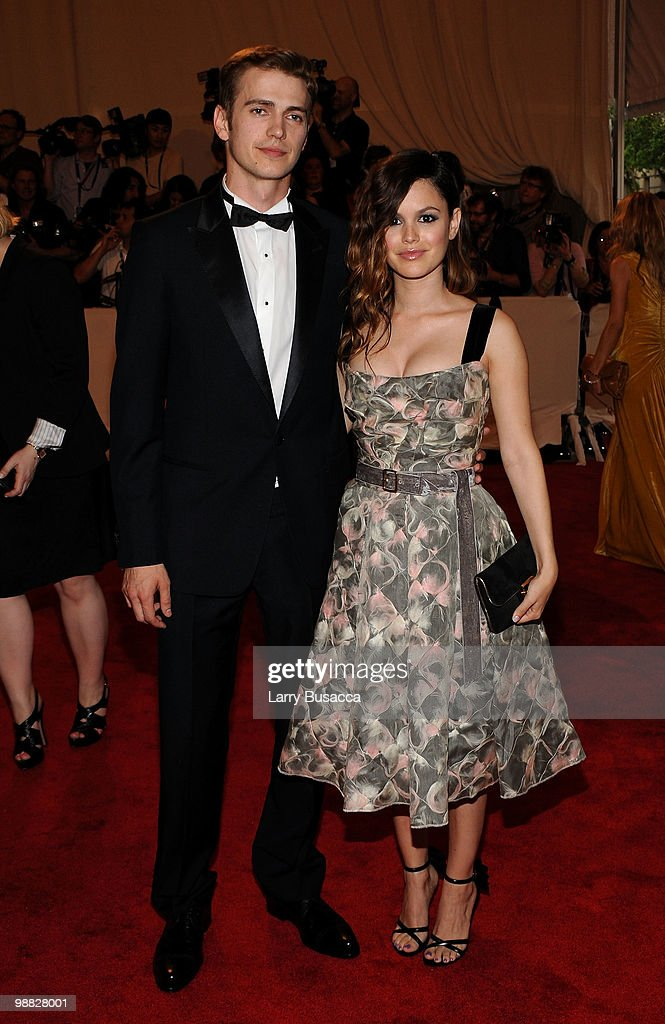 Actor Hayden Christensen and actress Rachel Bilson (R) attend the Costume Institute Gala Benefit to celebrate the opening of the 'American Woman: Fashioning a National Identity' exhibition at The Metropolitan Museum of Art on May 3, 2010 in New York City.