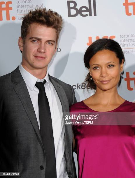 Actor Hayden Christensen and actress Thandie Newton attend the Vanishing On 7th Street Premiere at Ryerson Theatre during the Toronto International...