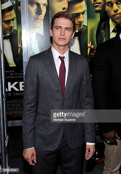 Actor Hayden Christensen arrives at the premiere of Screen Gems' 'Takers' at the Arclight Cinerama Dome on August 4 2010 in Hollywood California