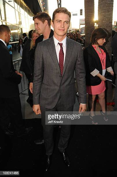 Actor Hayden Christensen arrives at the 'Takers' Los Angeles Premiere held at ArcLight Cinemas Cinerama Dome on August 4 2010 in Hollywood California