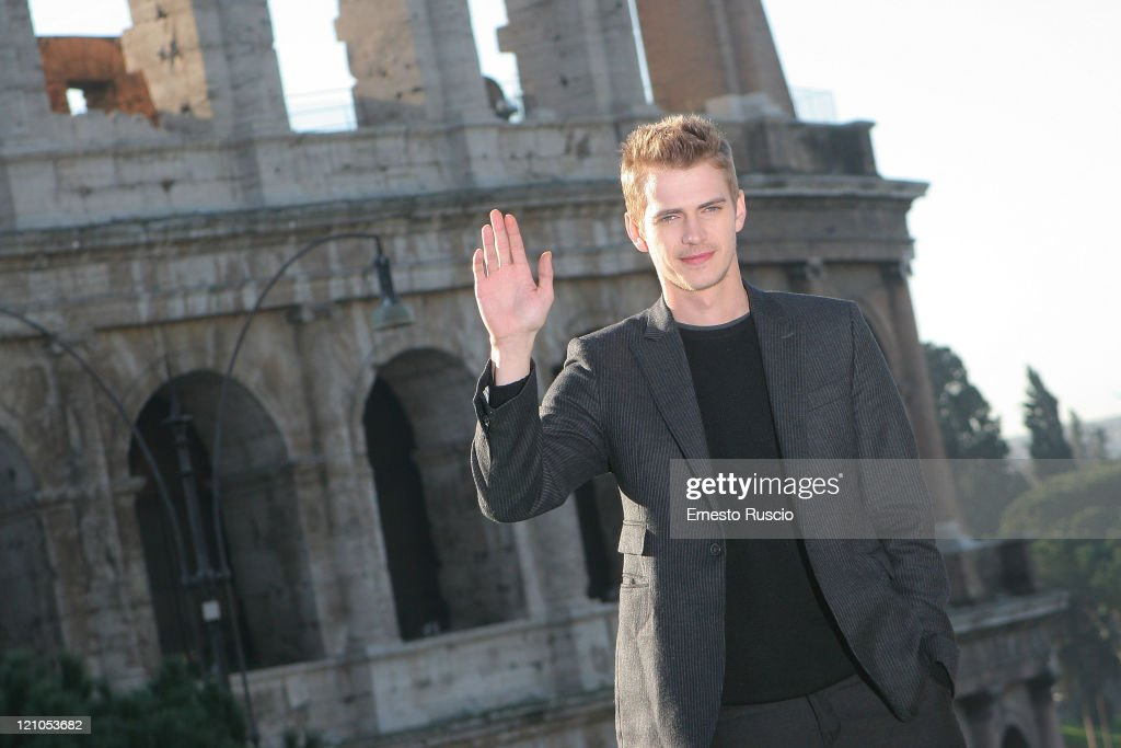 Actor Hayden Christensen attends a photocall for 'Jumper' at the Colosseum on February 6, 2008 in Rome, Italy.
