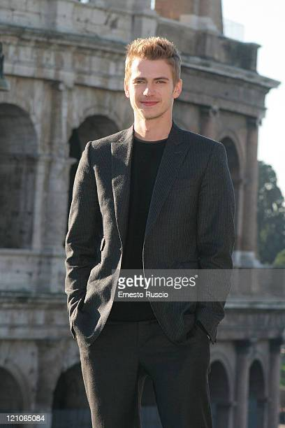 Actor Hayden Christensen attends a photocall for Jumper at the Colosseum on February 6 2008 in Rome Italy