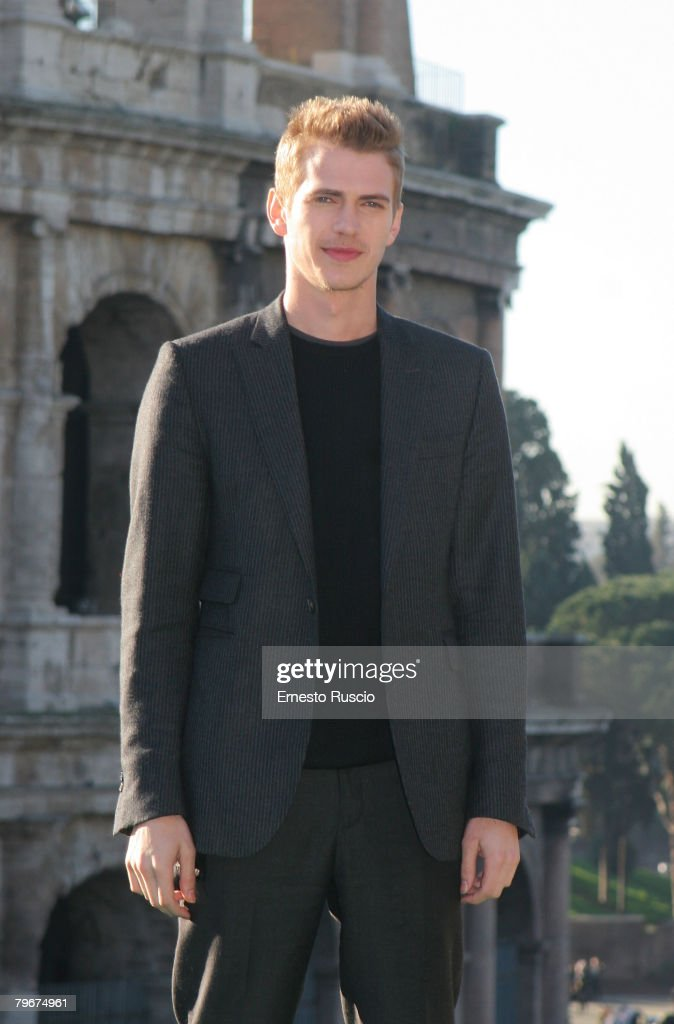 Actor Hayden Christensen attends a photocall for 'Jumper'at the Colosseum on February 6, 2008 in Rome, Italy.