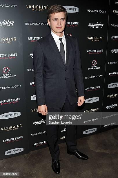 Actor Hayden Christensen attends the Cinema Society screening of Vanishing On 7th Street at IFC Center on February 7 2011 in New York City