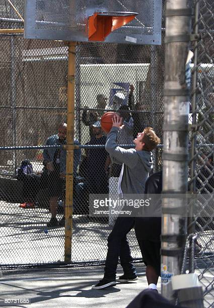 Actor Hayden Christensen filming on location for New York I Love You on April 16 2008 in New York City