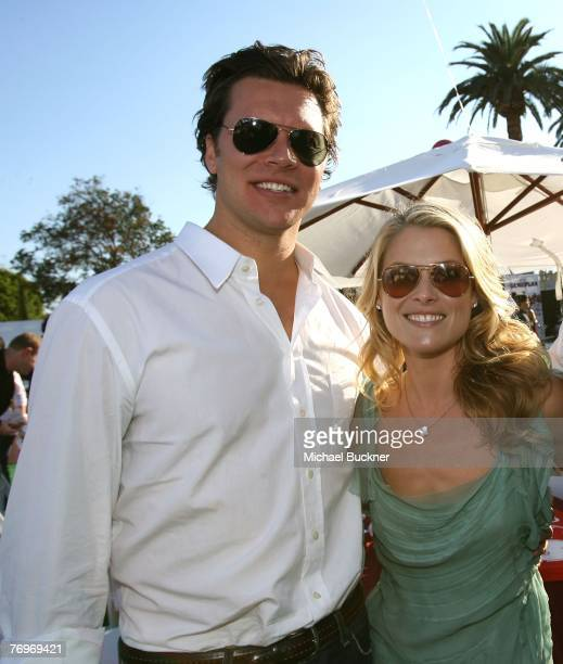 Actor Hayes MacArthur and actress Ali Larter attend the after party for the premiere of Walt Disney Pictures' The Game Plan at the El Capitan Theatre...