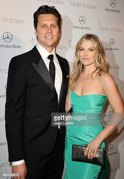 Actor Hayes MacArthur and actress Ali Larter attend the Art of Elysium's 7th annual Heavan gala at Skirball Cultural Center on January 11, 2014 in...
