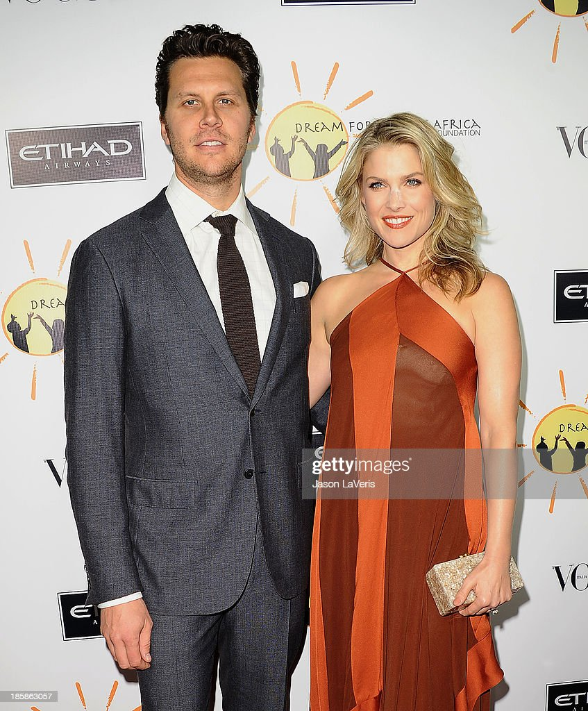 Actor Hayes MacArthur and actress Ali Larter attend the Dream For Future Africa Foundation gala at Spago on October 24, 2013 in Beverly Hills, California.