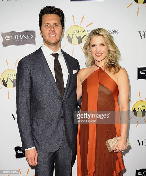 Actor Hayes MacArthur and actress Ali Larter attend the Dream For Future Africa Foundation gala at Spago on October 24, 2013 in Beverly Hills,...
