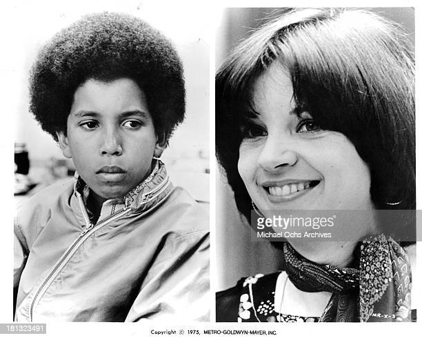 Actor HB Barnum III and Actress Cindy Williams on set of the MetroGoldwyn Mayer movie Mr Ricco in 1975