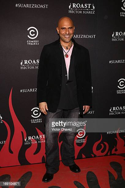 Actor Héctor Suárez Gomís attends the Comedy Central Roast De Hector Suarez red carpet on May 9 2013 in Mexico City Mexico