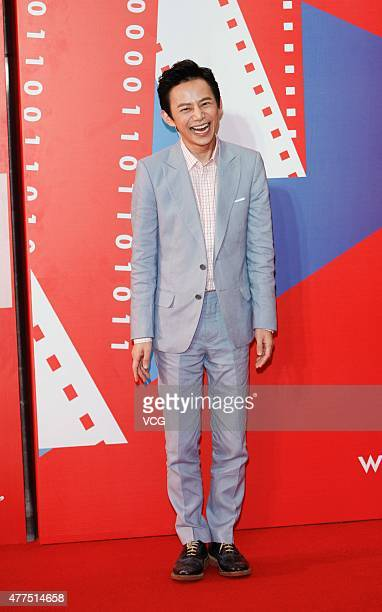 Actor He Jiong arrives at the red carpet of ISIFF Gala Night during the 18th Shanghai International Film Festival at Shanghai Convention and...