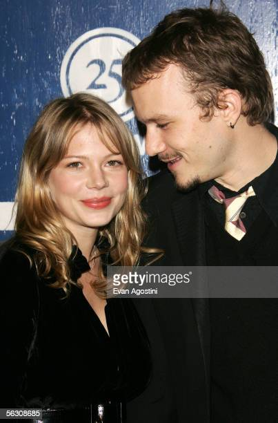 Actor Heath Ledger and his girlfriend actress Michelle Williams attend IFP's 15th Annual Gotham Awards at Chelsea Piers November 30 2005 in New York...
