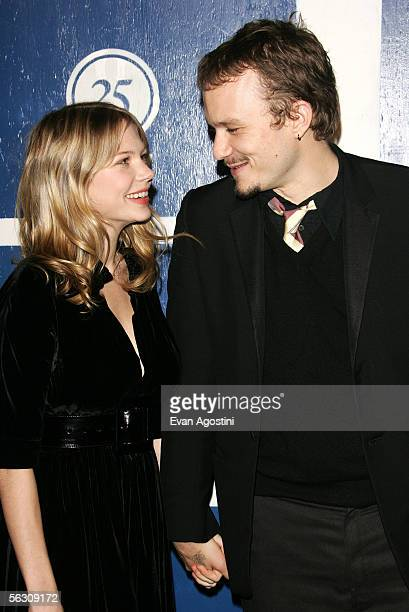 Actor Heath Ledger and his girlfriend actress Michelle Williams attend IFP's 15th Annual Gotham Awards at Chelsea Piers November 30, 2005 in New York...