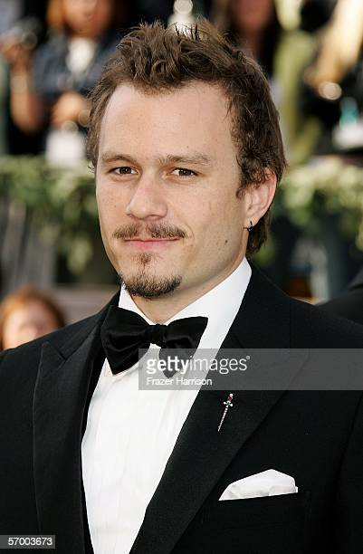 Actor Heath Ledger arrives at the 78th Annual Academy Awards at the Kodak Theatre on March 5, 2006 in Hollywood, California.